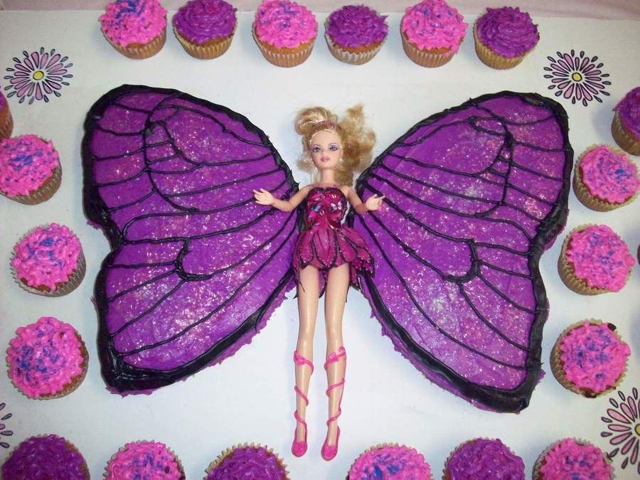 Schmetterling kuchen barbie