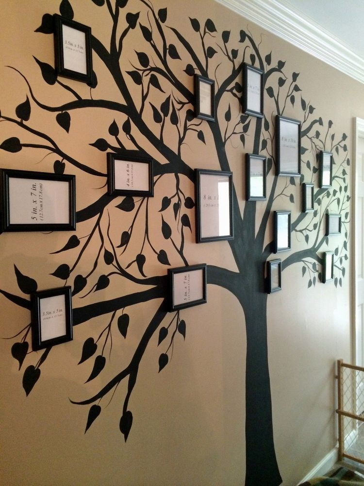 Family Tree Tree Wall Painting Family Tree Mural Metal Tree