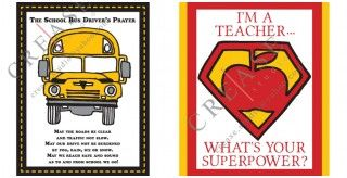 "<3 this cute and affordable gift idea!  Superhero Teacher and School Bus Driver's Prayer Photo Gift 8""x10"" Printables"