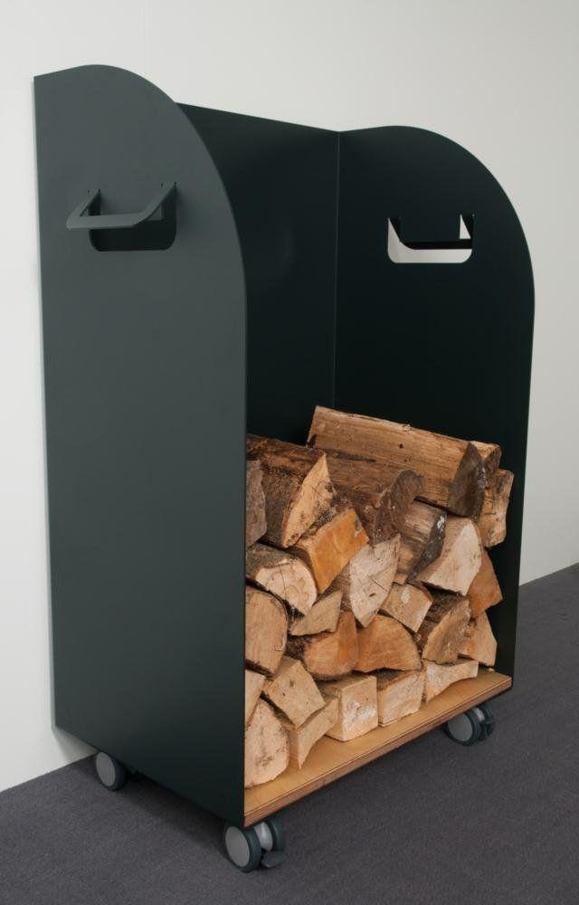 Holzaufbewahrung Höhe 90 Breite 60cm, mit Schublade, Metall ...