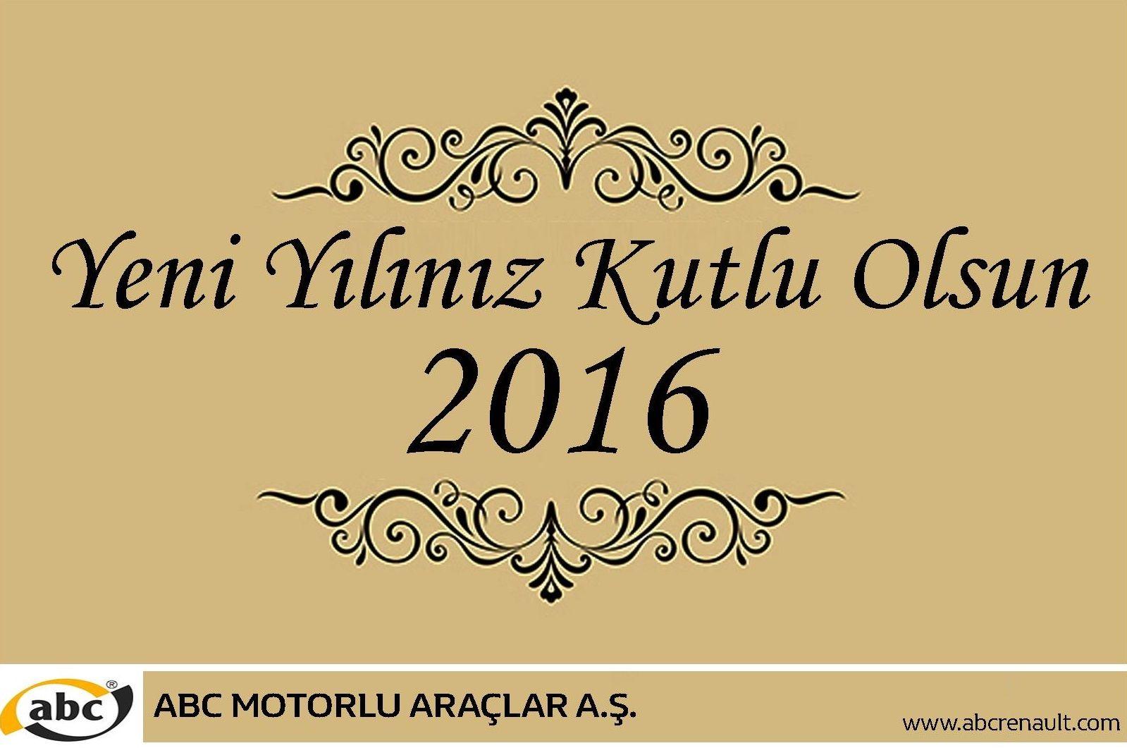 Yeni yılın tüm insanlığa ve ülkemize barış, mutluluk getirmesi dileğiyle yeni yılınız kutlu olsun.