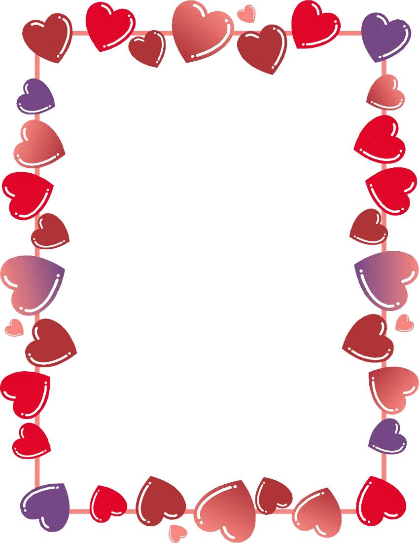 Clip Art Heart Border Valentines Clip Valentines Day Border Valentines Printables Free
