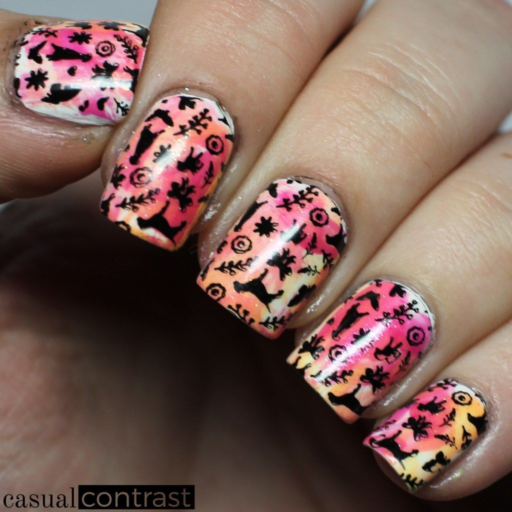 Whimsical Dog Manicure Featuring Uberchic Beauty Furry Best Friends
