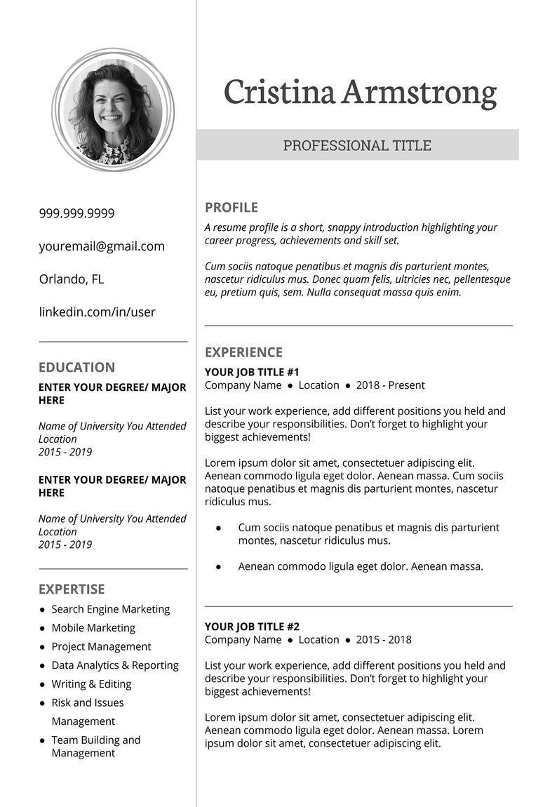 Resume template professional resume template creative