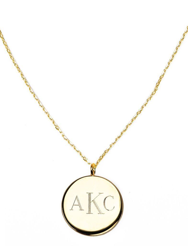 Gold Monogram Pendant - Kiel James Patrick Anchor Bracelet Made in the USA