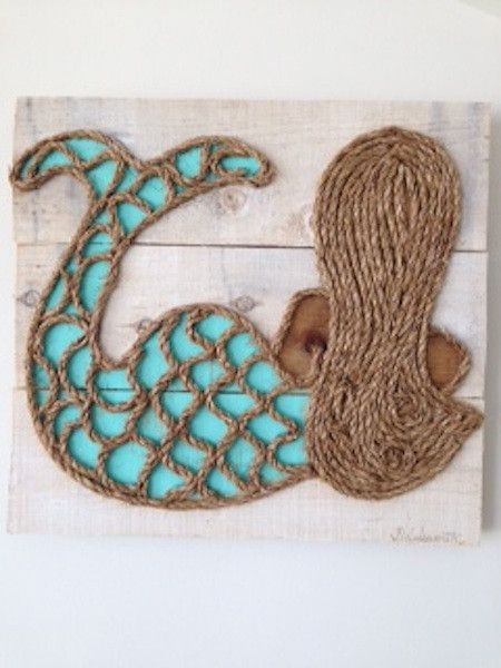 Wooden Mermaid Wall Decor wood and rope mini leaning mermaid from www.mstreetartwork