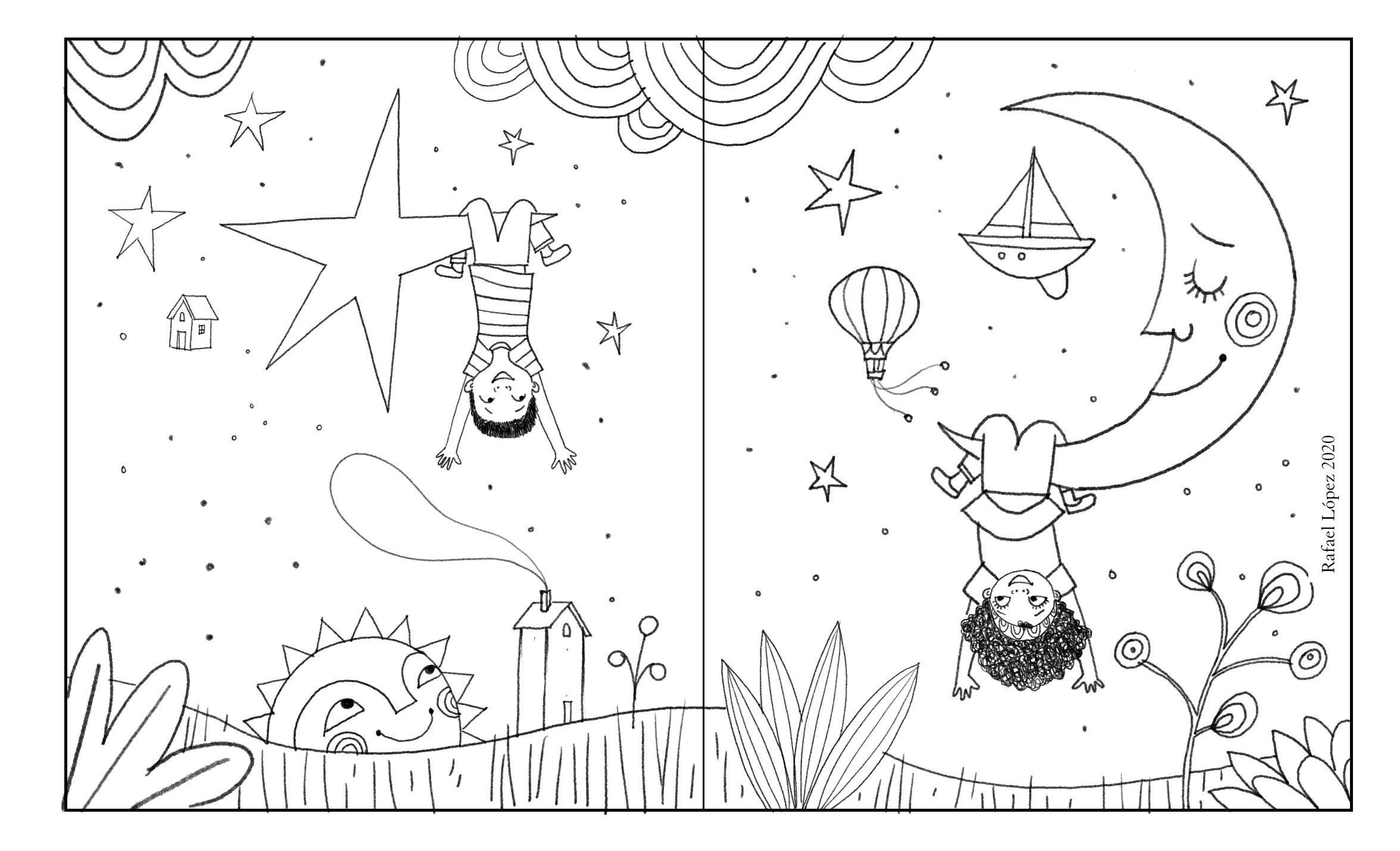 Pin On Rafael Lopez Illustrator Artist Coloring Pages