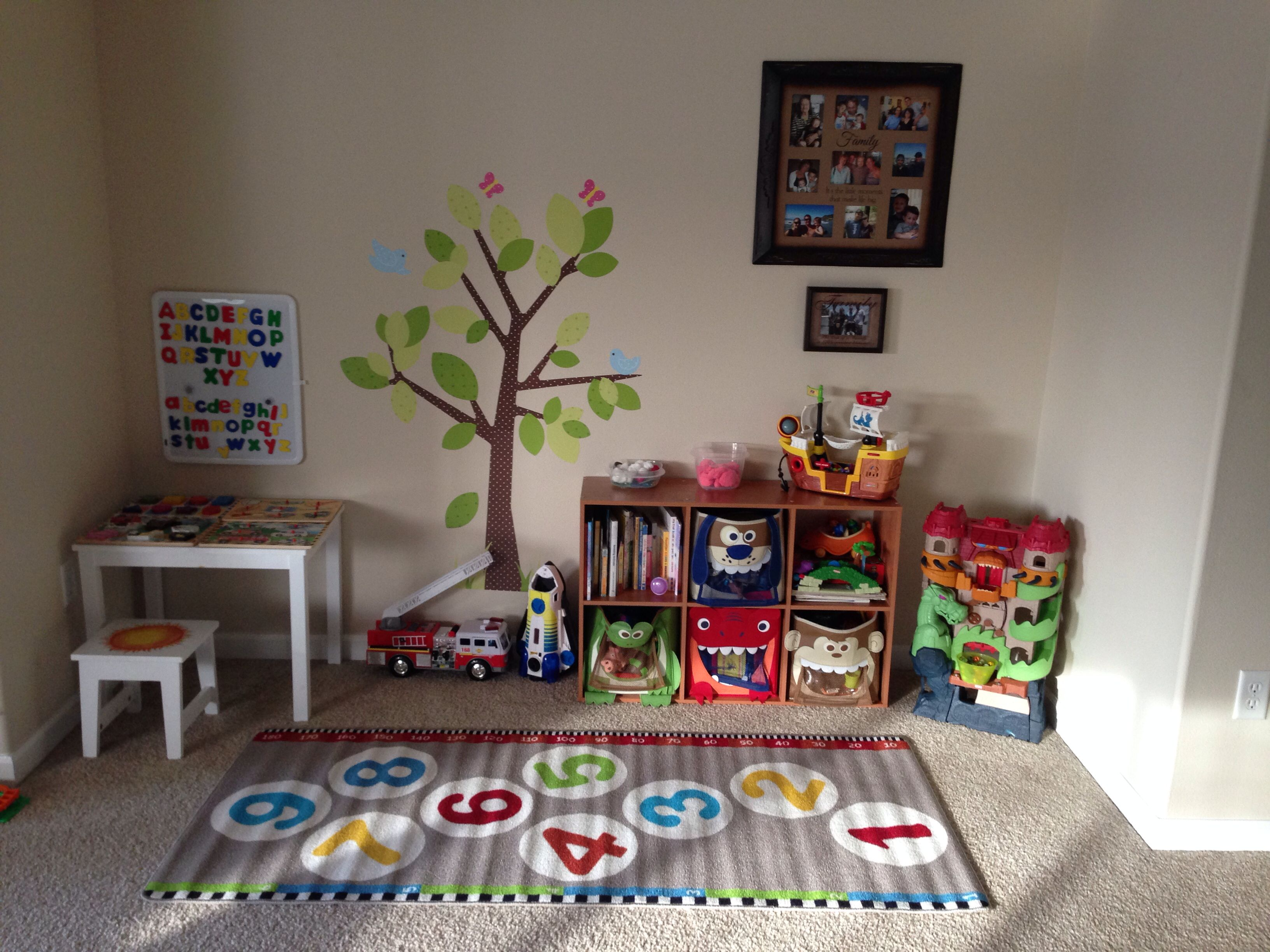 play area and learning for those living in a small home with