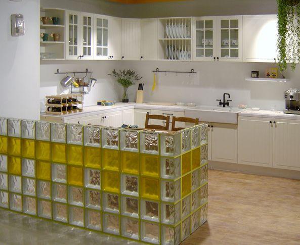 C mo colocar una pared de pav s de vidrio uno mismo vidrii block pinterest vidrio - Como colocar ladrillos de vidrio ...