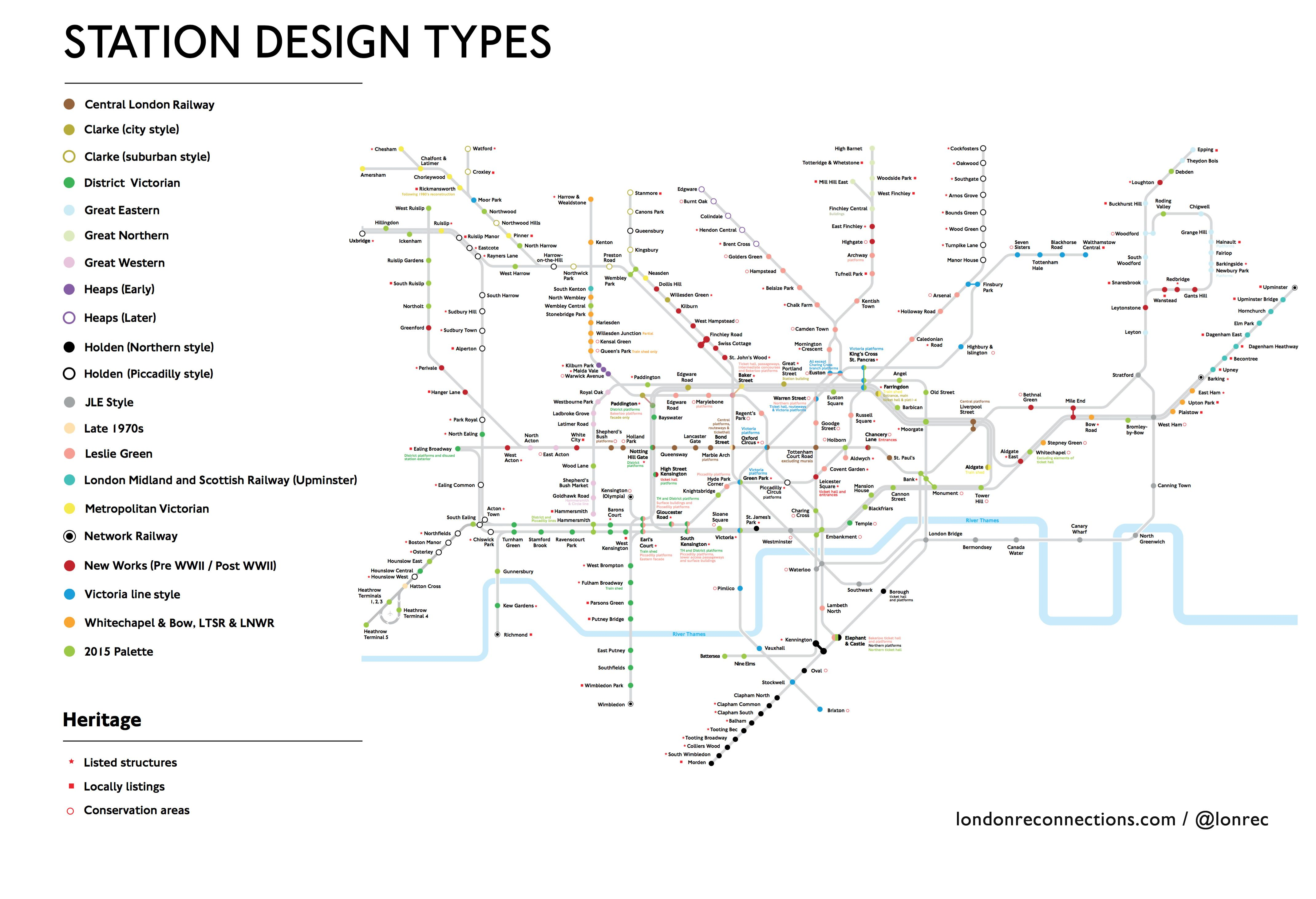 London Station Design by Type / Heritage