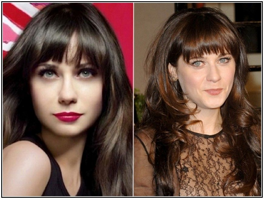 Stars Without Makeup Zooey Deschanel | Before and After Stars ...