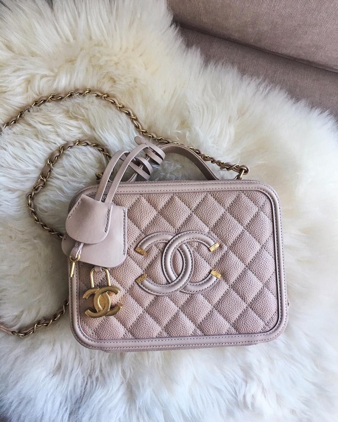 ba6c6dc1cdfa8c Introducing the Chanel CC Filigree Bag. The CC Filigree comes in two  styles, Flap Bag and Vanity Case. This is part of Chanel's Spring/Summer  2016 Collecti