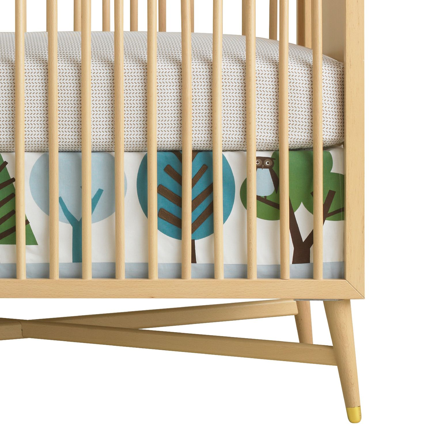 DwellStudio Crib Skirt Canvas Owls. Dwell Studio Mid-century Crib Giveaway!  #laylagrayce