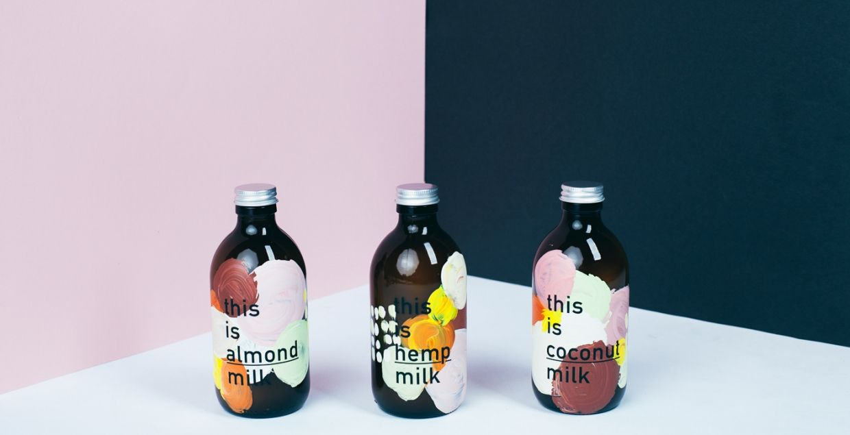 this is milk packaging illustration and graphics pinterest