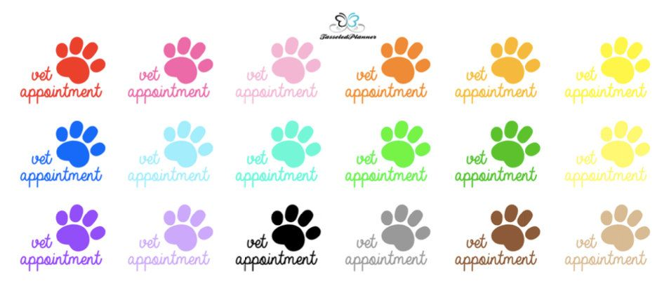 Vet Appointment Planner StickerVet Reminder Planner StickerVet