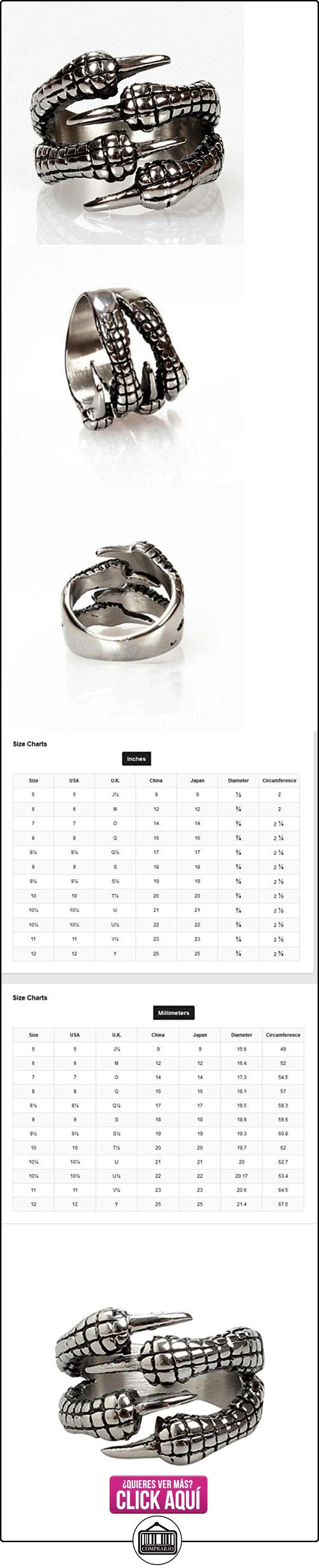 HFJ&YIE&H Anillos Diario Joyas Titanio Acero Anillos de Diseño7 / 8 / 9 / 10 / 11 Plateado . 10  ✿ Joyas para hombres especiales - lujo ✿ ▬► Ver oferta: https://comprar.io/goto/B01MXTMAHF