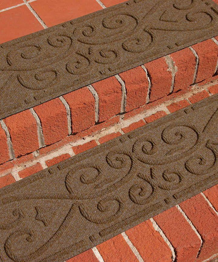 Best Dark Brown Scroll Stair Tread Set Of Four Sponsored 400 x 300