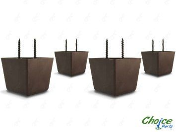 amazon com choice parts 2 inch tall triangle walnut brown plastic rh pinterest com replacement foot for sofa replacement feet for dfs sofa