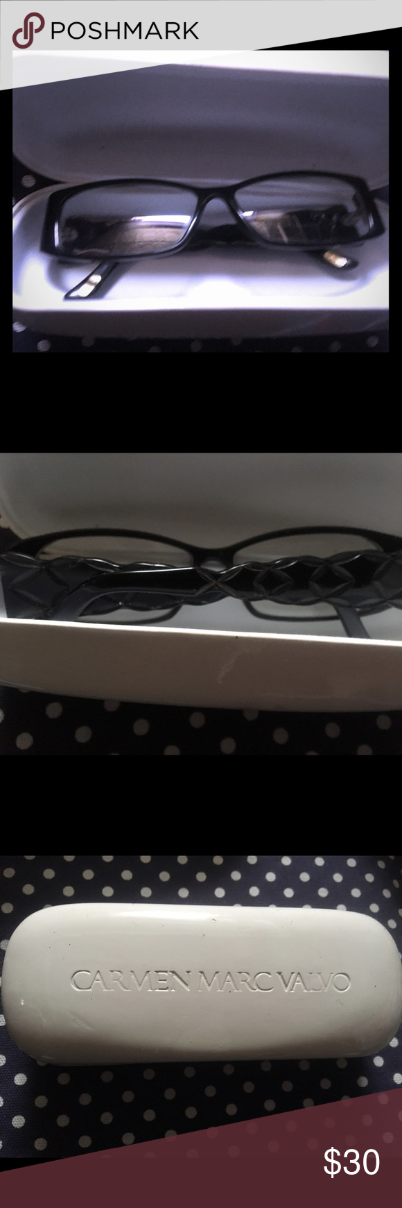 Carmen Marc Valvo eyeglasses Black Carmen Marc Valvo eyeglasses. Good condition. Carmen Marc Valvo Accessories Glasses