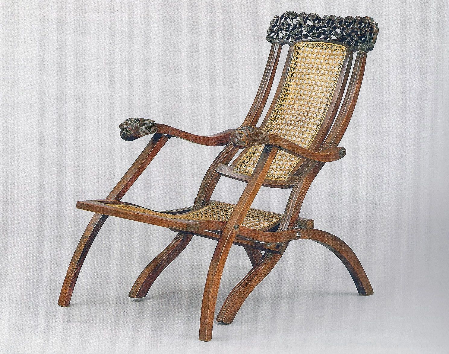 """Folding Deck Chair. India. Anglo Raj Antiques. Amin Jaffer """"Furniture from British India and Ceylon"""""""