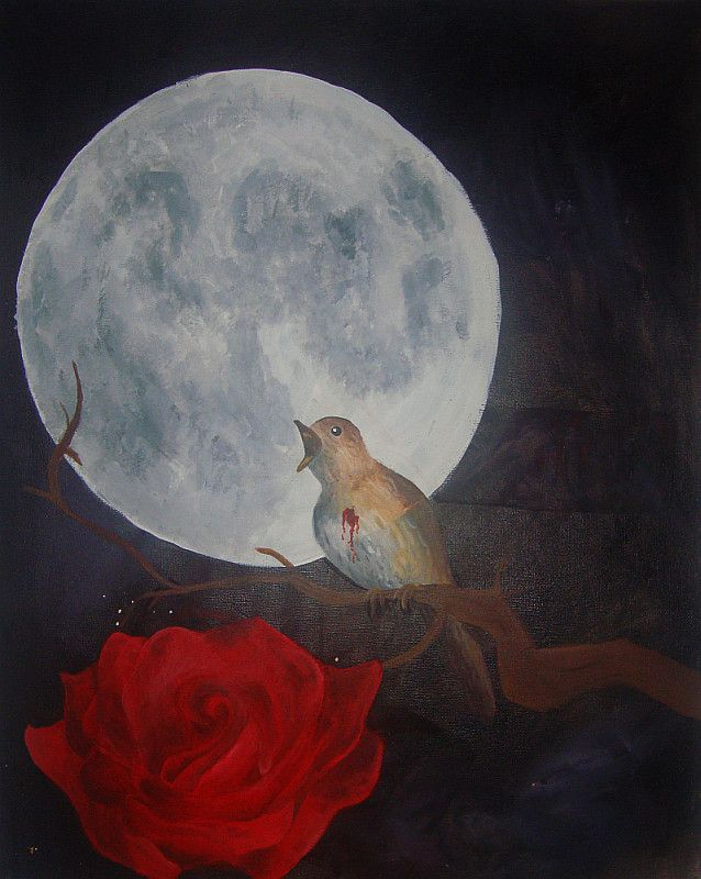 The Nightingale and the Rose by Lussst | Death & Fairy Tales ...