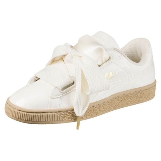 Puma Basket Heart Patent Women s Trainer   White Trainers For Women ... 5cbdfdc3fc94