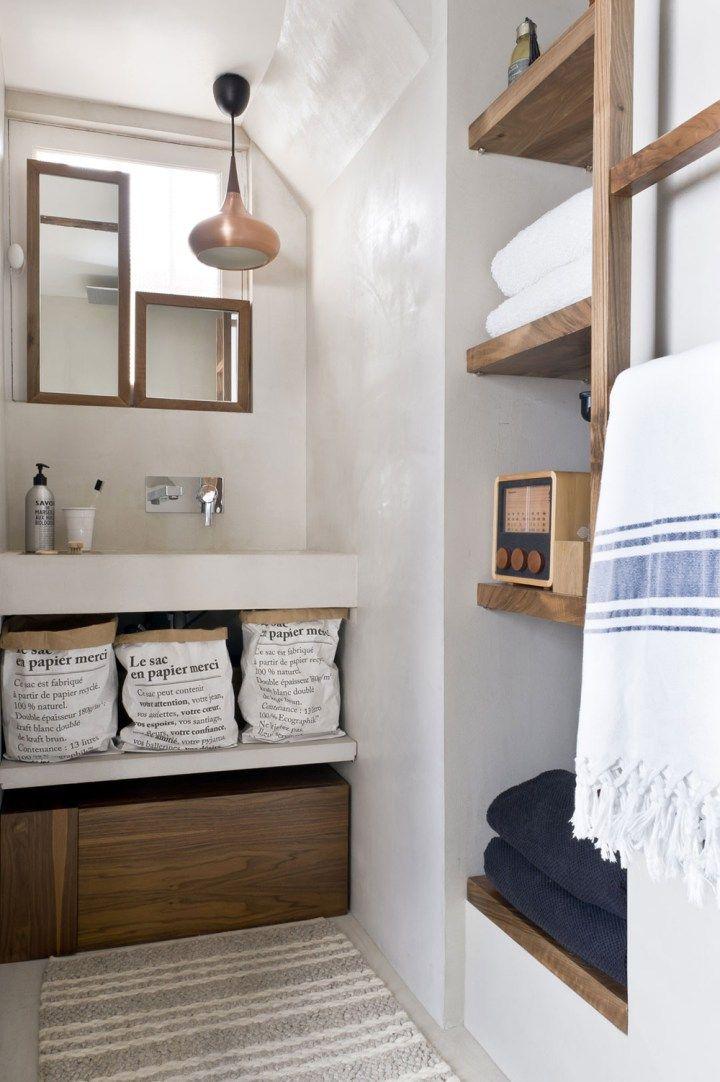 Estilo rústico moderno y nórdico en Paris Toilettes Pinterest - decoracion de espacios pequeos