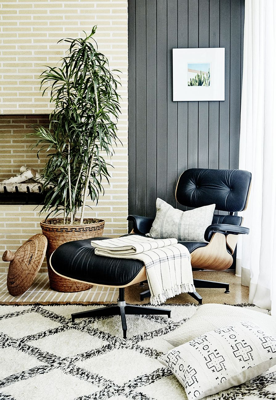 Gray shiplap charles ray eames herman miller living room chairs home