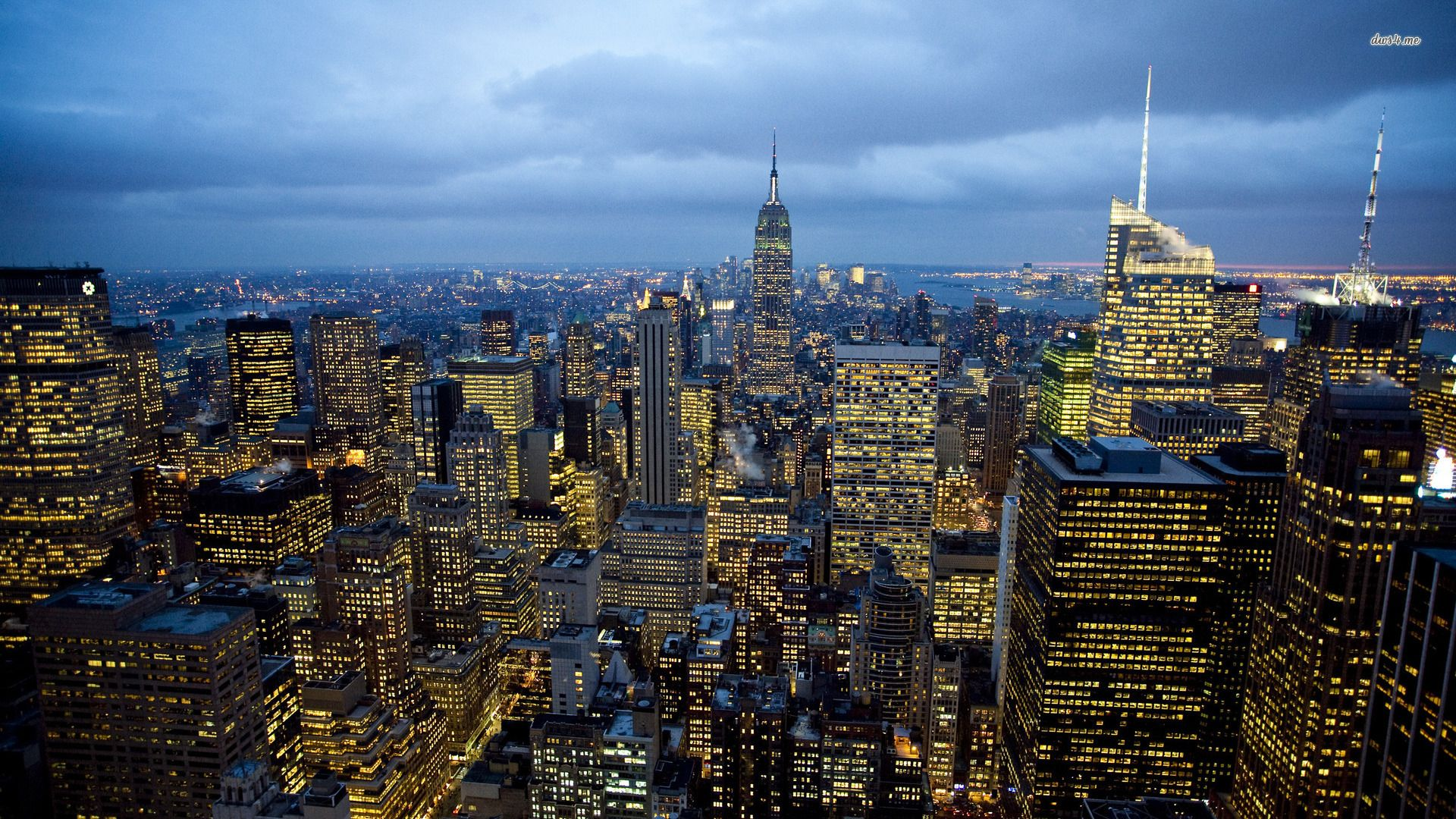 Empire State Building View From Top Wallpaper HD Wallpapers - City lights wallpaper for bedroom