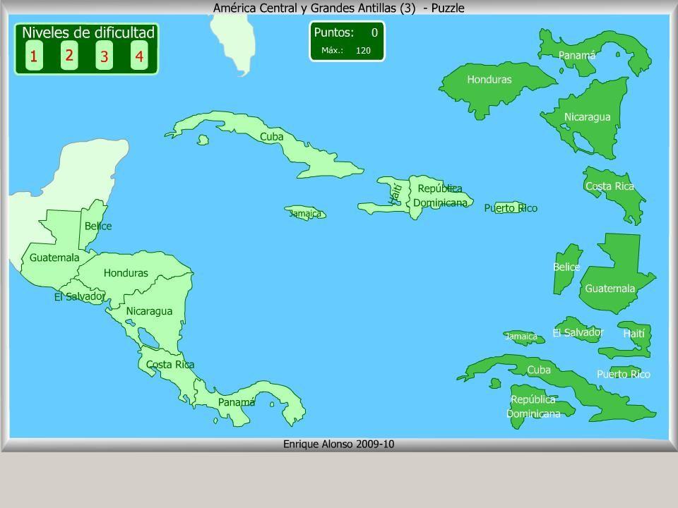 Pases de Amrica Central Puzzle  Class ideas  Pinterest