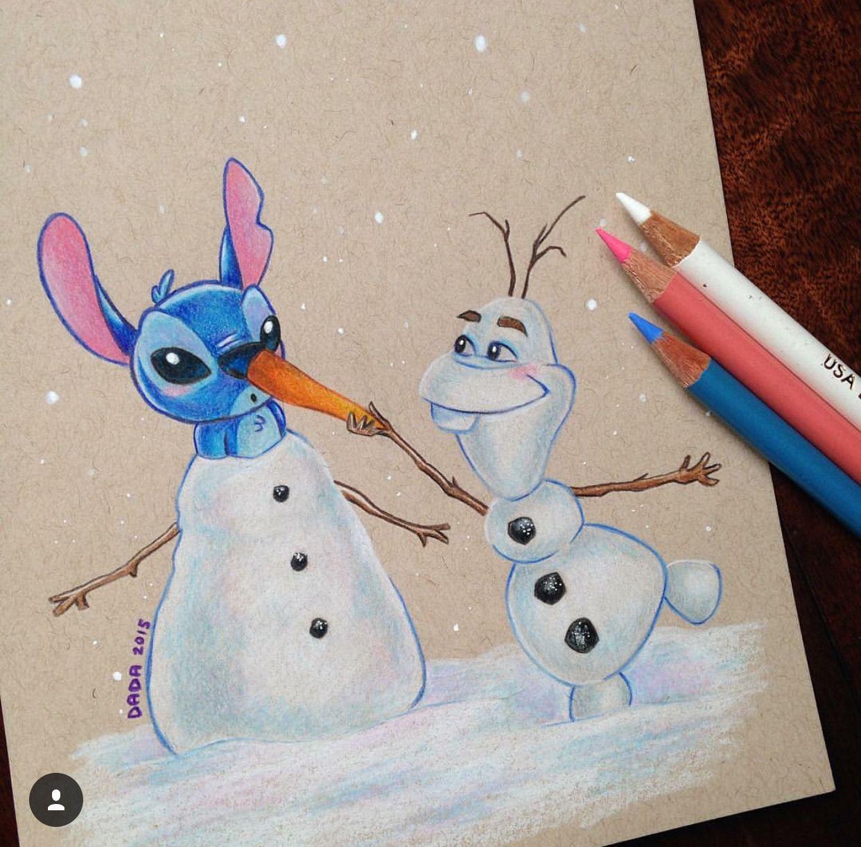 Dada Disney Stitch and Olaf Art Pinterest Disney stitch