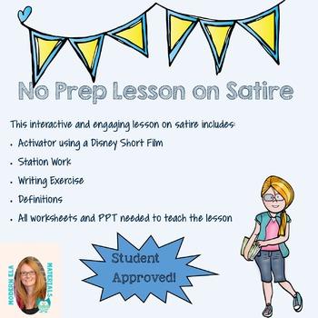 Satire Lesson Plan Satire Writing Lessons Lesson Plans