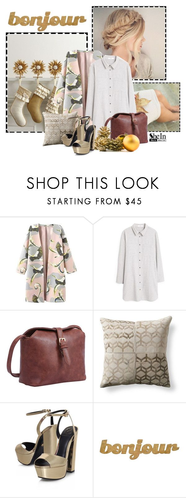 """""""Bonjour!"""" by euro-filou ❤ liked on Polyvore featuring MANGO, Grandin Road, KG Kurt Geiger, Slippin' Southern, contest and shein"""