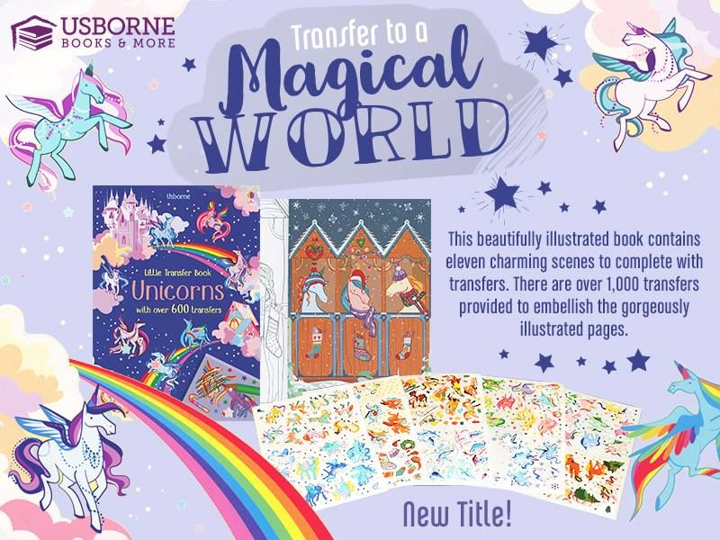Bring The Magical Unicorn Scenes In This Book To Life By Using A Pencil Or Ballpoint Pen To Press On The Transfers There A Usborne Books Unicorn Books Usborne