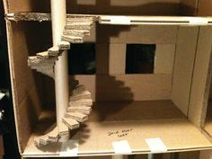 How to Spiral Staircase from cardboard