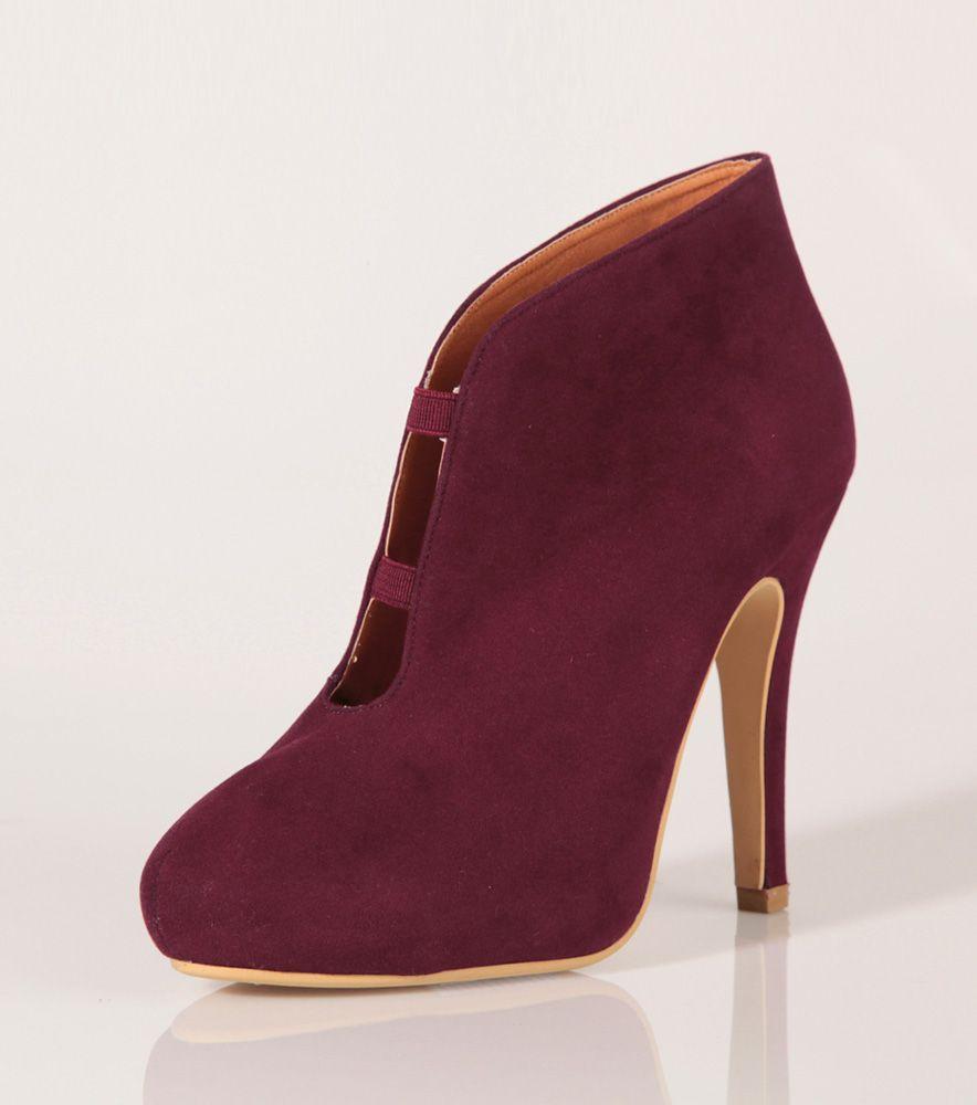 2d782e5e5 Zapatos botines tacón mujer símil antelina Moda Mujer 6A Venca