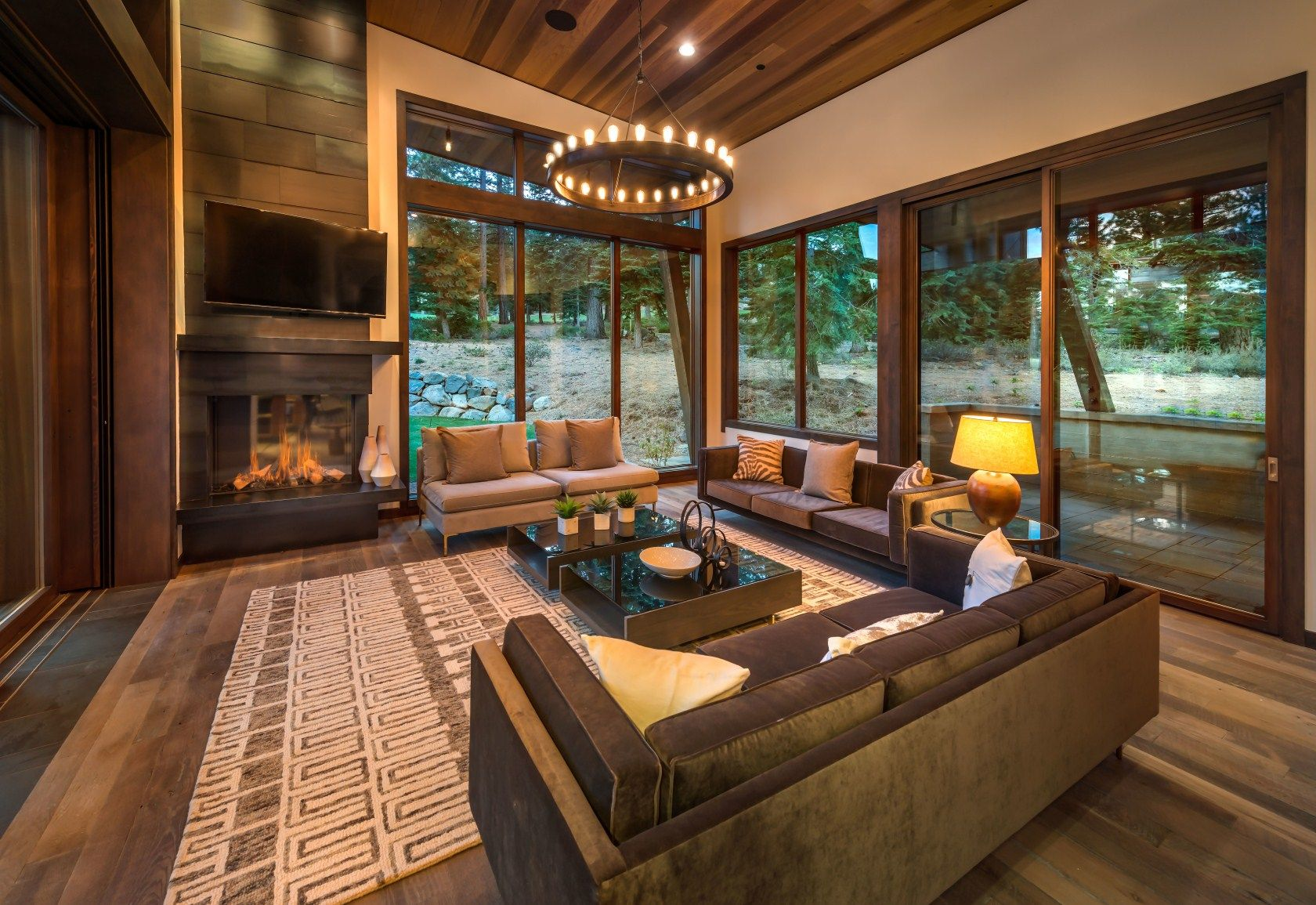 5 Living Rooms With Built In Fireplaces, Home & Garden Design