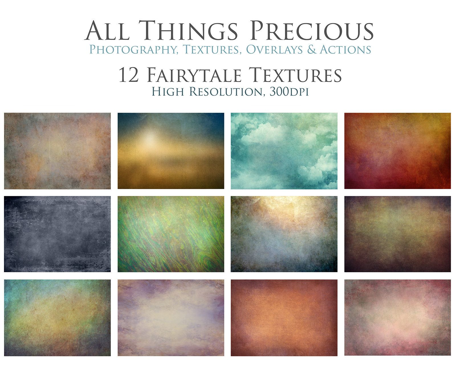 12 Textures Fairytale Overlays Photography High Res