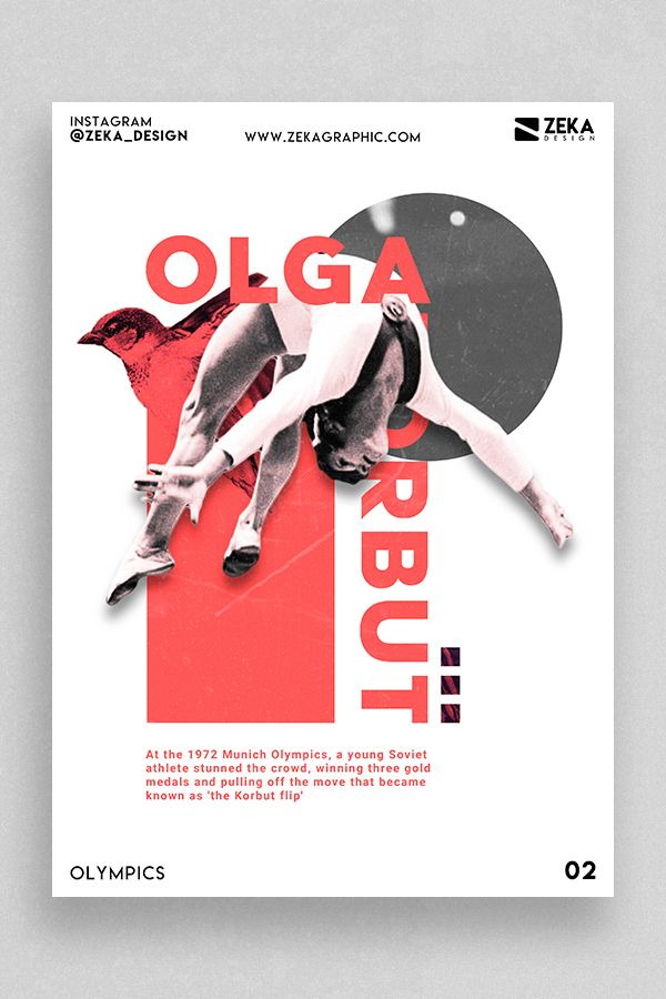 Photo of Olympics Minimalist Poster Design 02 Sport Graphic Design Inspiration Art by Zeka Design