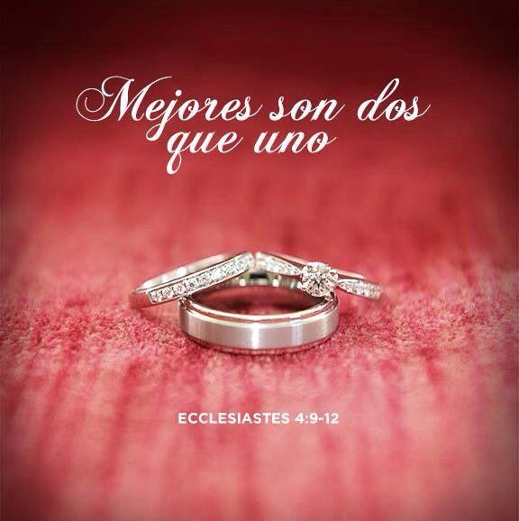 Matrimonio Segundo A Biblia : Eclesiastés mejores son dos que uno porque tienen