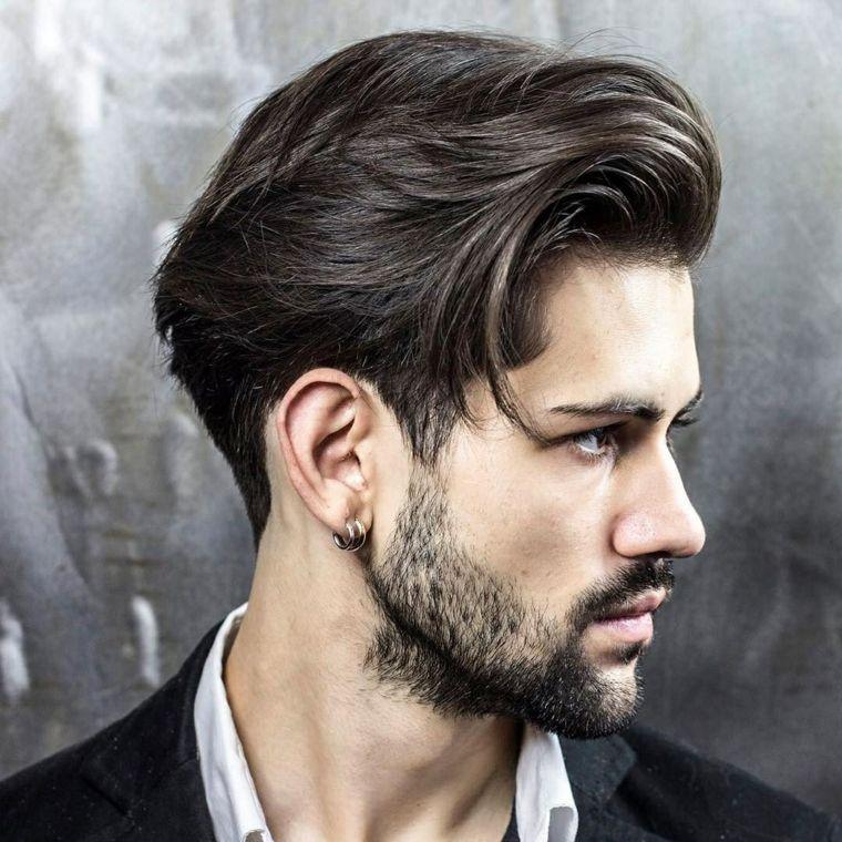Taglio capelli uomo con ciuffo lungo