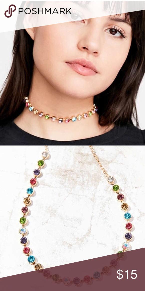 17f113e50a8b9 Eleni Rainbow Choker Necklace Bought this choker from urban ...