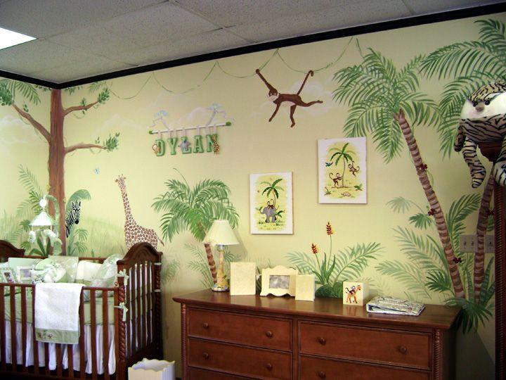 Bellini Safari Mural - Aventura--Nursery Wall Mural   Garrett\'s Room ...
