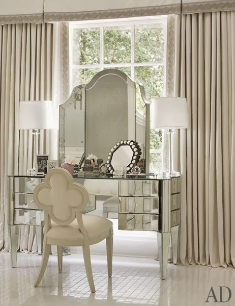 Mirrored Vanity- So pretty!