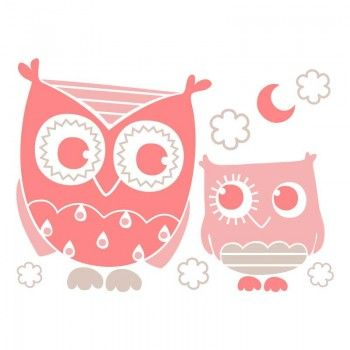 Sticker Chambre B B Fille Chouettes Roses Chambre Bebe Pinterest Owl Wallpaper Art