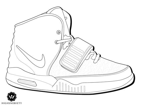 Nike Running Shoes Coloring Pages Color your air yeezy 2 5