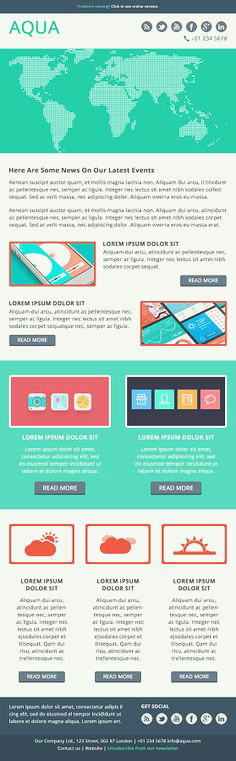 Email Design Template Flat Best Flats Responsive