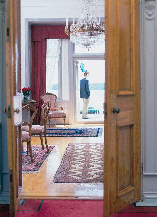 Comwell Aspenäs er en gammel herregård med højt til loftet og smukt indrettede lokaler