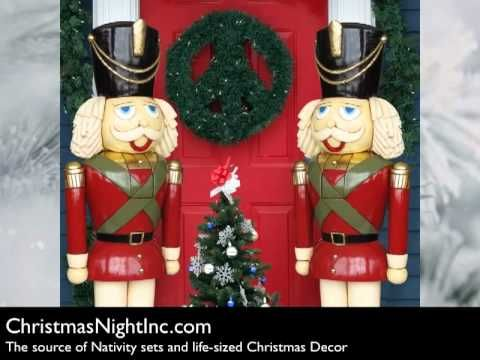 life size nutcrackers and christmas toy soldiers have been a staple of residential and commercial christmas decorating for generations these large festive - Large Life Size Toy Soldier Christmas Outdoor Decorations