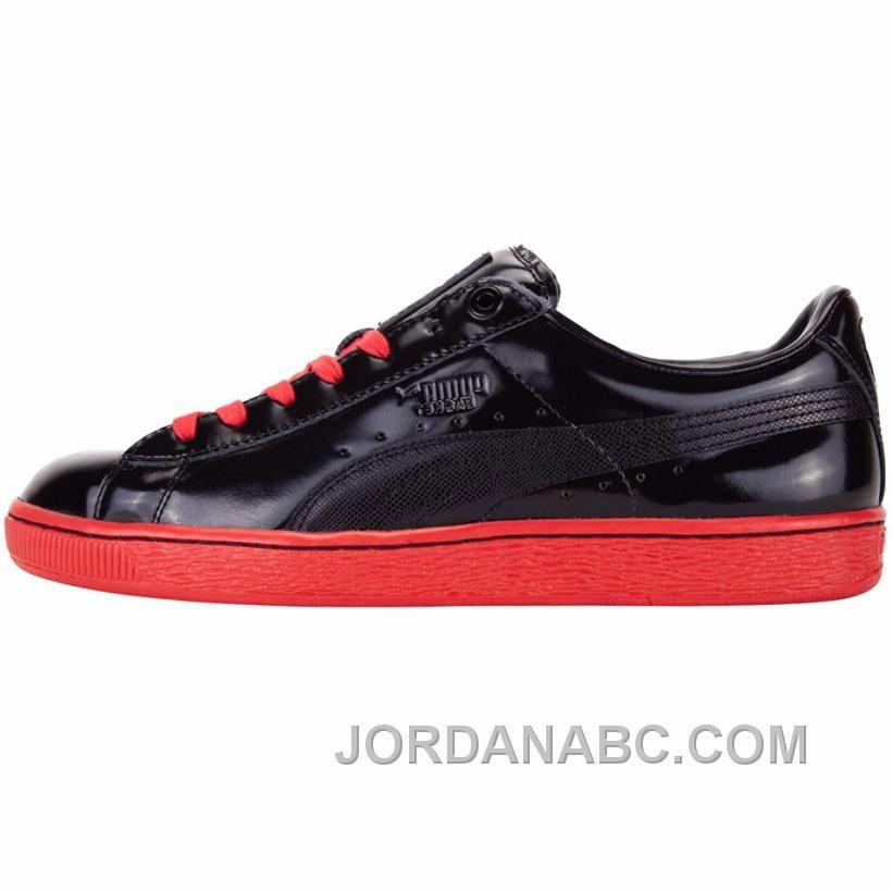 577547fe34c Puma X Meek Mill Patent Basket (Black Red) On Sale